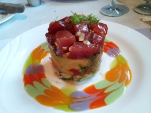 Ahi tuna tower