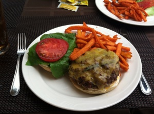Juicy lucy hamburger